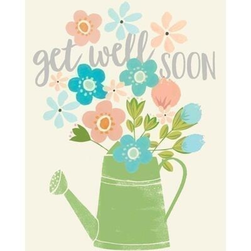 Jug of Flowers Get Well Soon card by Liz and Pip