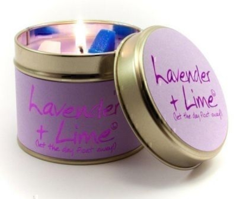 Lavender And Lime Scented Candle By Lily Flame