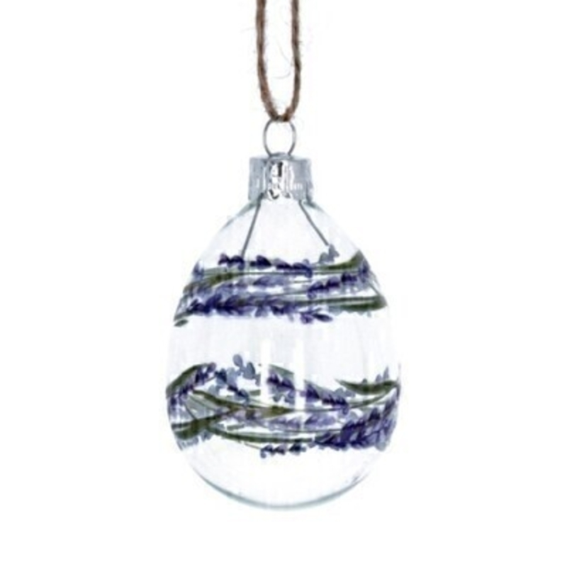 Lavender Easter Egg Hanging Decoration By Gisela Graham