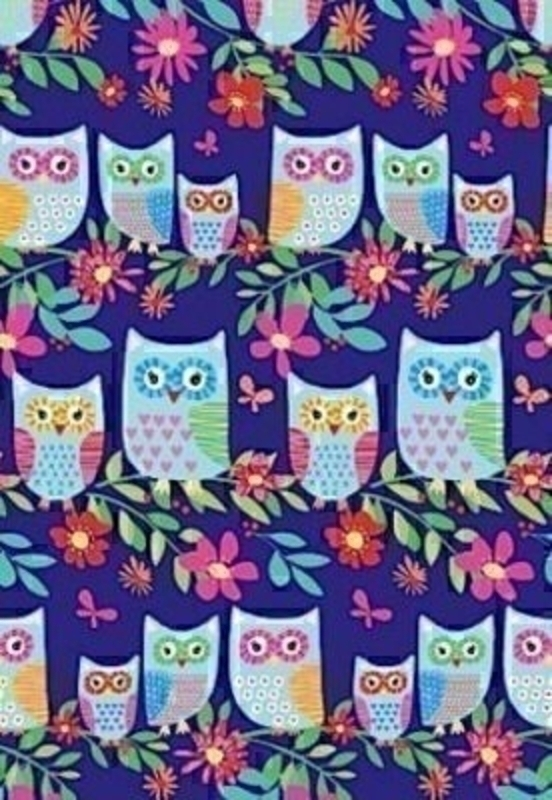 Levin Owl Blue Gift Wrap On Roll By Stewo