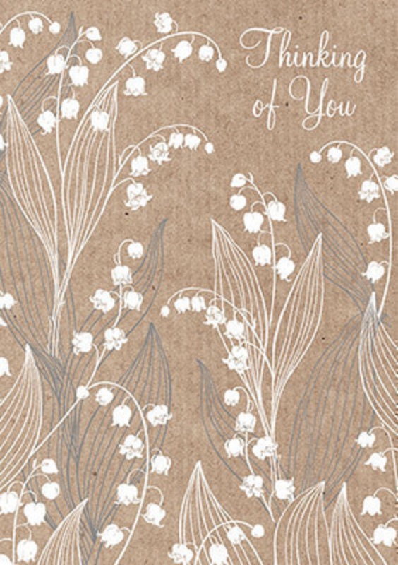 Lily Of The Valley Thinking Of You Card by Paper Rose