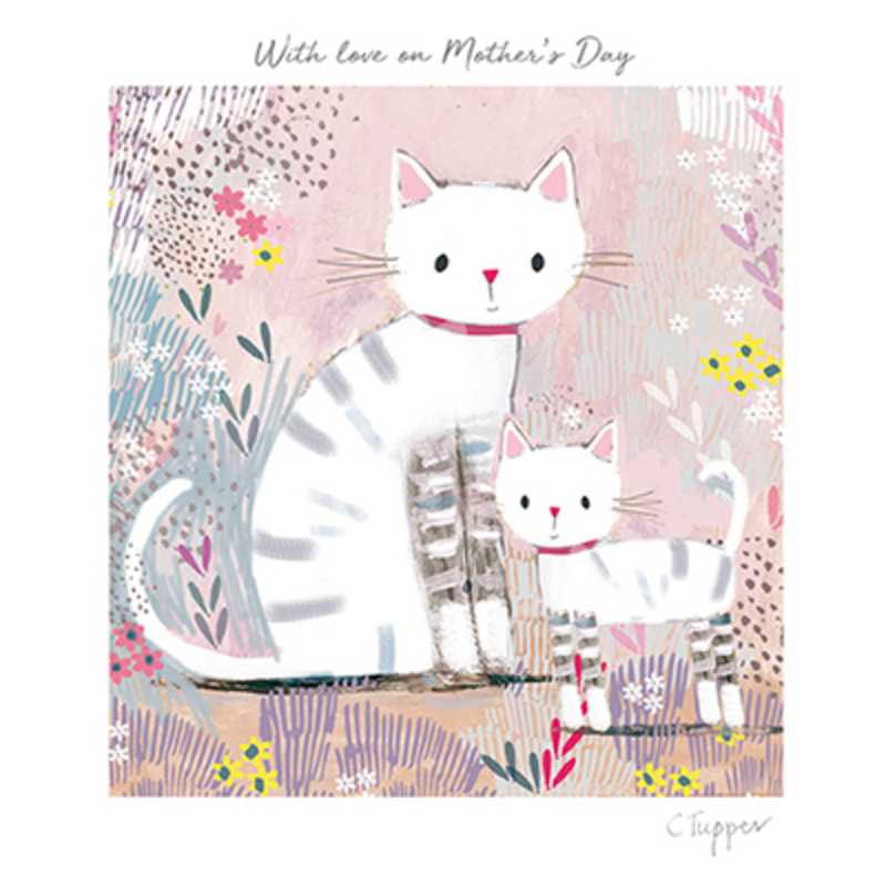 Mothers Day Two Cats in a Meadow Card by Paper Rose