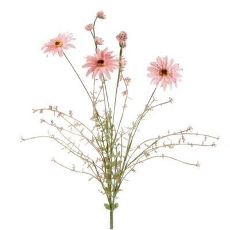 Pink Wild Daisy Artifical Flowers By Gisela Graham