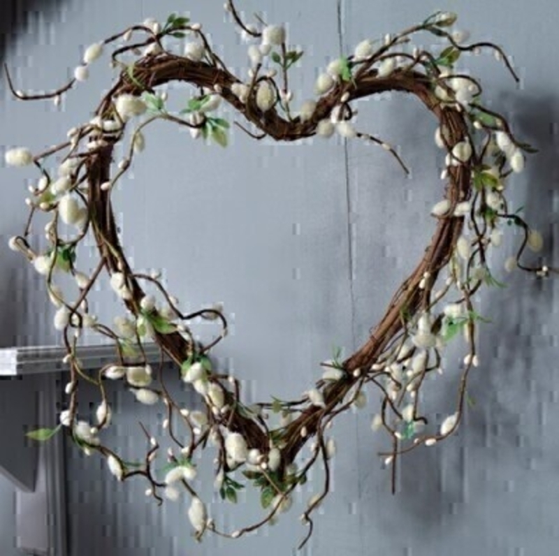 Pussy Willow Twig Heart by Bloomsberry