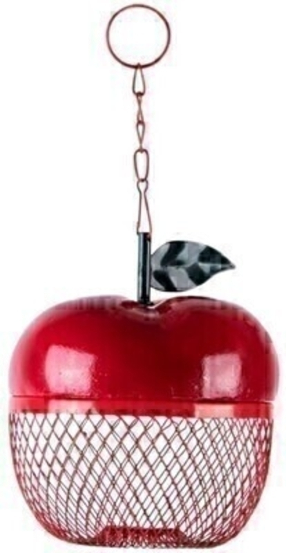 Red Apple Shape Bird Feeder