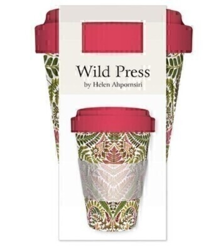 Reusable Pink and Green Wild Press Travel Mug