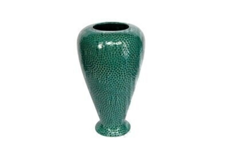 Seagreen Dimple Ceramic Large Vase Gisela Graham