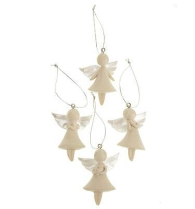 Set Of 4 Small Angel Hanging Decoration By Heaven Sends