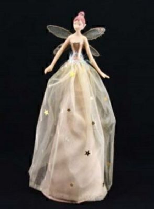 Sheer Golden Tree Top Fairy By Gisela Graham