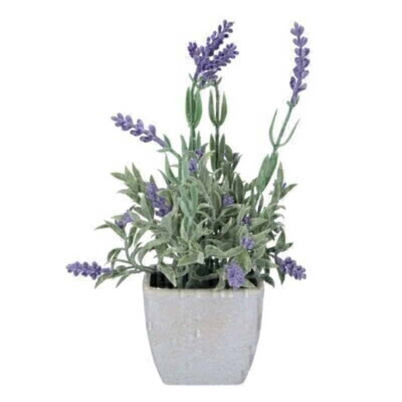 Small Faux Potted Lavender By Gisela Graham