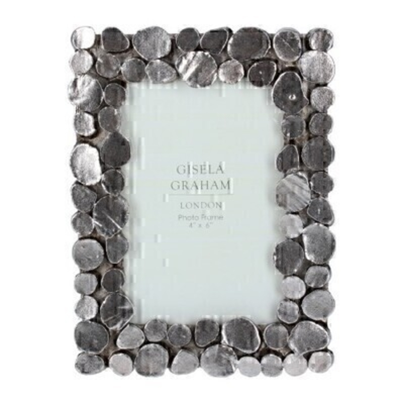 Small Pewter Pebble Picture Frame By Gisela Graham
