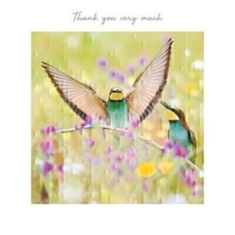 Thank You Very Much Greetings Card by Paper Rose