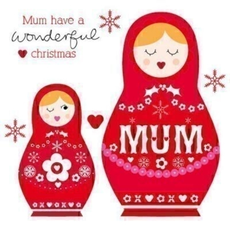 To Mum Babushka Dolls Christmas Card