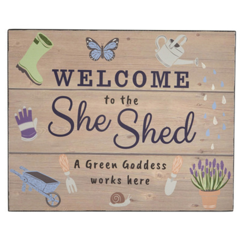 Welcome To The She Shed Wooden Sign