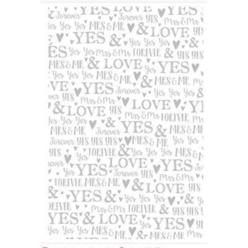 White and Silver Wedding Wrapping Paper by Stewo