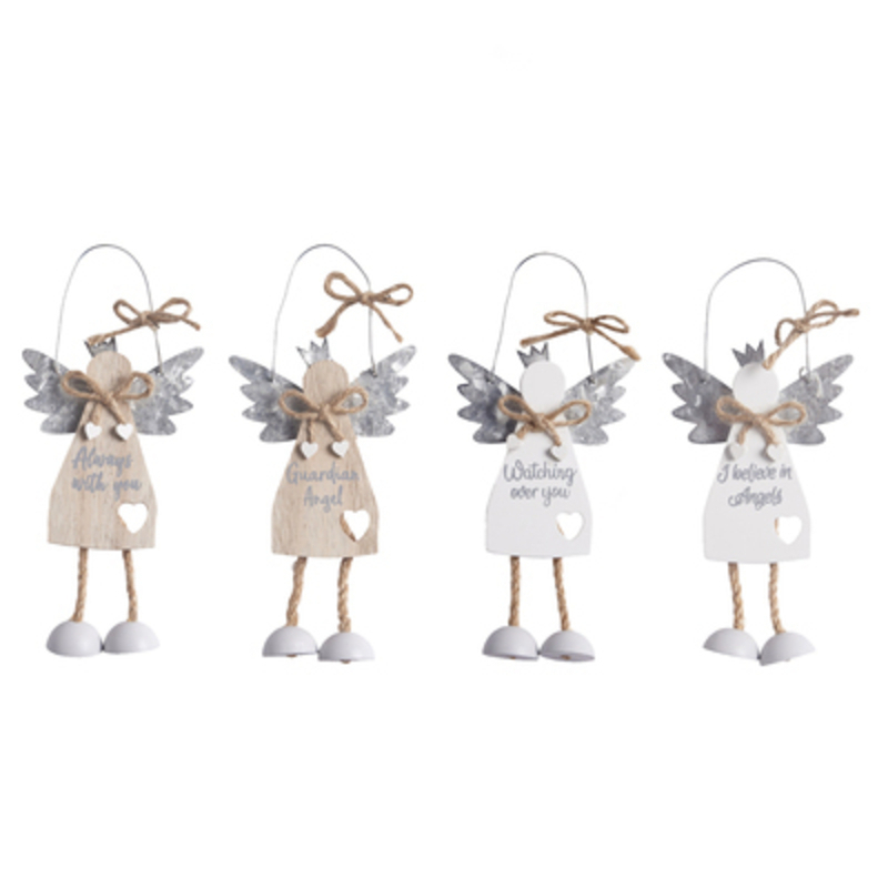 Wooden Angel With Sentimental Words Decoration