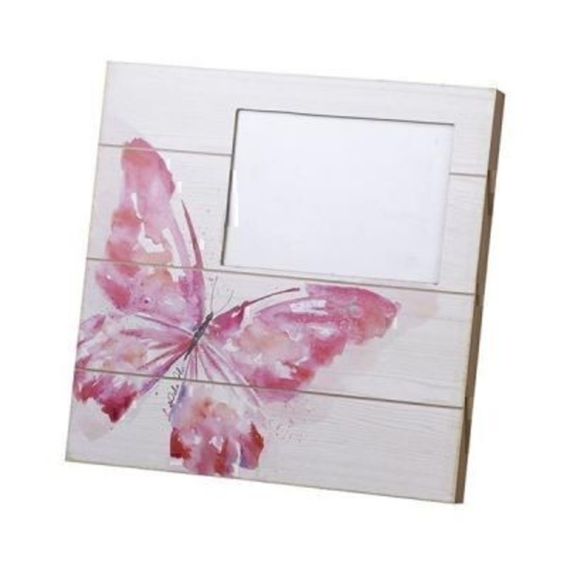 Wooden Butterfly Photo Frame by Heaven Sends